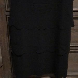 J. Crew Dresses - Scalloped black JCrew Dress
